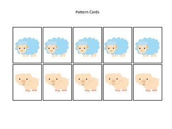 Down on the Farm themed Pattern Cards #3 preschool learning activity. Homeschool