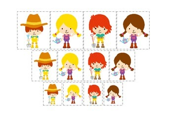 Down on the Farm themed Size Sorting preschool learning ac