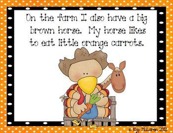 Down on the Farm with Turkey Lurkey (an emergent reader)