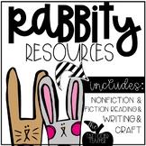 Easter Bunny Craftivity, Nonfiction, Literacy, Writing fun!