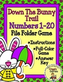 Down the Bunny Trail Missing Numbers File Folder Game
