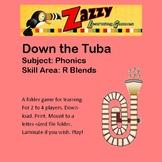 Down the Tuba Folder Game Beginning Consonant Blends