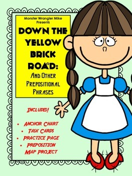 Down the Yellow Brick Road: Prepositional Phrase Task Cards and Practice