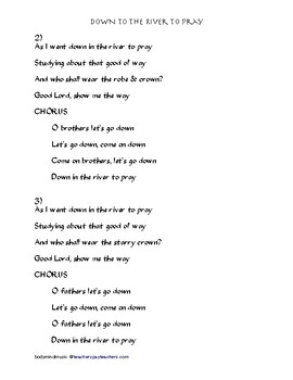 """Down to the River to Pray"" American Song - Guitar Chords & Lyrics"