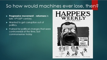 Down with the machine!  A game about parties, machines, Progressives and voting