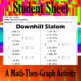 Downhill Slalom - 15 Systems & Coordinate Graphing Activity