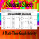 Downhill Slalom - A Math-Then-Graph Activity - Solving Proportions