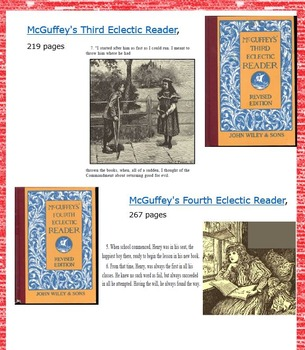 McGuffey Eclectic Readers, Speller and Primer - eBooks (over a 1,000 pages)