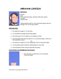 Downloadable Abraham Lincoln Cut and Paste Pattern Packet