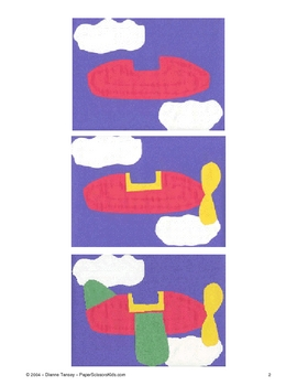 Downloadable Airplane Cut and Paste Art Activity Pattern for Bulletin Boards