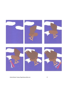 Downloadable American Eagle Cut and Paste Art Activity for Bulletin Boards