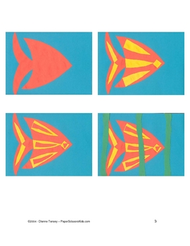 Downloadable Angelfish Cut Paste Art Project Pattern Packet