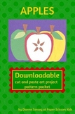 Downloadable Apples Cut and Paste Art Activity for Bulletin Boards