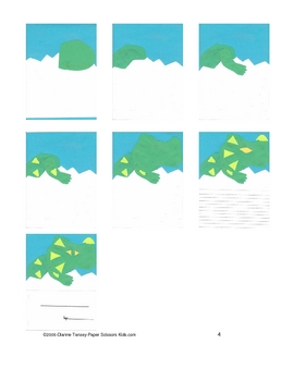 Downloadable Baby Dinosaur Cut and Paste Storybook Pattern Packet