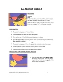 Downloadable Baltimore Oriole Cut and Paste Art Project Pattern Packet
