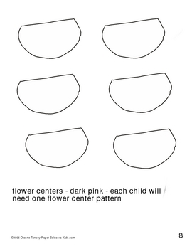 Downloadable Bee and Flower Cut and Paste Art Project Pattern Packet