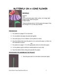 Downloadable Butterfly Cut and Paste Art Project Pattern Packet