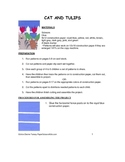 Downloadable Cat and Tulips Cut and Paste Art Project Pattern Packet