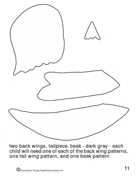 Downloadable Chickadee Cut and Art Project Paste Pattern Packet