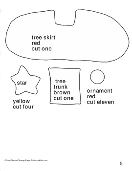 Downloadable Christmas Tree Cut and Paste Art Project Pattern Packet