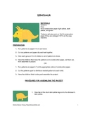 Downloadable Dinosaur Cut and Paste Art Project Pattern Packet