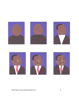 Downloadable Dr. Martin Luther King Jr. Cut and Paste Pattern Packet