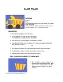 Downloadable Dump Truck Cut and Paste Art Project Pattern Packet
