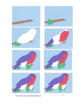Downloadable Eastern Bluebird Cut and Paste Art Pattern