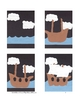 Downloadable Explorer's Ship Cut and Paste Art Project Pattern Packet