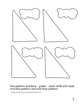 Downloadable Fly A Kite Cut and Paste Art Project Pattern Packet
