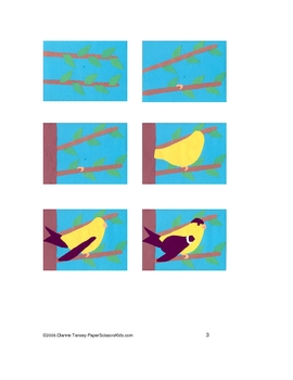 Downloadable Goldfinch Cut and Paste Art Project Pattern Packet