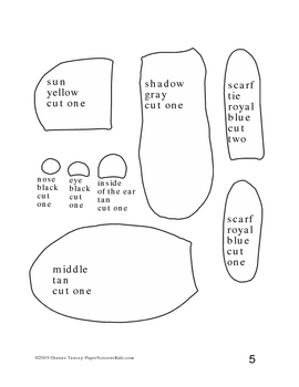 Downloadable Ground Hog Cut and Paste Art Project Pattern Packet