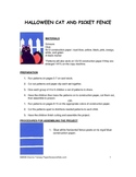 Downloadable Halloween Cat  Cut and Paste Art Project Pattern Packet