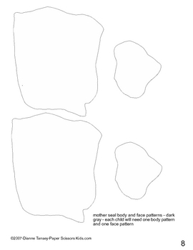 Downloadable Harbor Seal and Baby Cut and Paste Project Pattern Packet