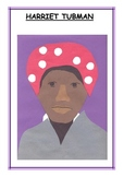 Downloadable Harriet Tubman Cut and Paste Art Actvity for Bulletin Boards