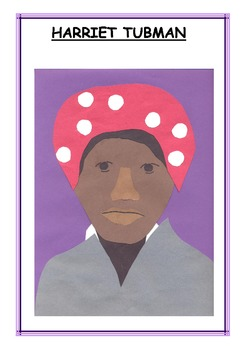Downloadable Harriet Tubman Cut and Paste Art Actvity for