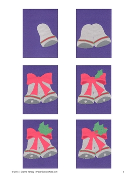 Downloadable Holiday Bells Cut and Paste Art Project Pattern Packet
