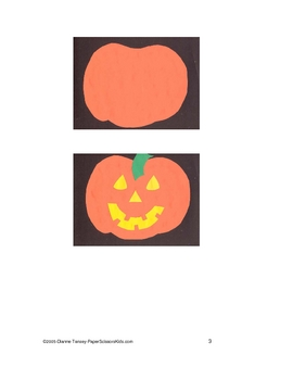 Downloadable Jack O'Lantern Cut and Paste Art Project Pattern Packet