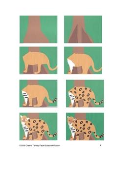 Downloadable Jaguar Cut and Paste Art Project Pattern Packet