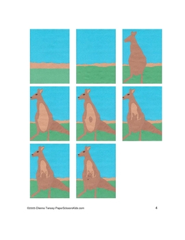 Downloadable Kangaroo and Joey Cut and Paste  Pattern Packet