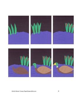 Downloadable Mallard Duck Cut and Paste Art Project Pattern Packet
