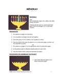 Downloadable Menorah Cut and Paste Art Project Pattern Packet