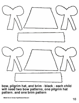 Downloadable Pilgrims Cut and Paste Pattern Packet