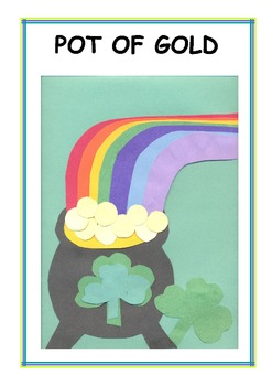 Downloadable Pot of Gold Cut and Paste Art Project Pattern Packet