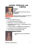 Downloadable Raccoon, Cornstalks, and Pumpkins Cut and Paste Pattern Packet