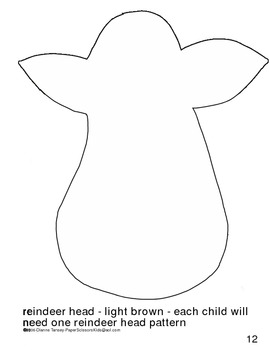 Downloadable Reindeer Cut and Paste Pattern Packet