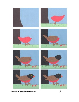 Downloadable Robin Cut and Paste Pattern Packet