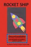Downloadable Rocket Ship  Paste Art Project Pattern Packet