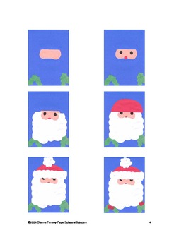 Downloadable Santa Face Cut and Paste Pattern Packet