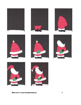 Downloadable Santa and Christmas Tree Cut and Paste Pattern Packet